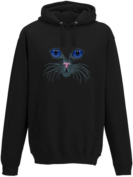Purple eyed cat Adults Hoodie