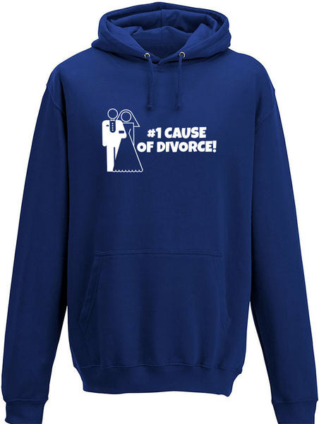 #1 cause of divorce Adults Hoodie
