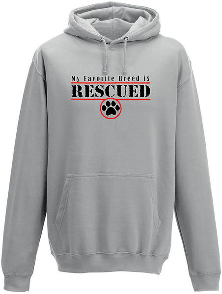 My favourite breed is rescued Adults Hoodie