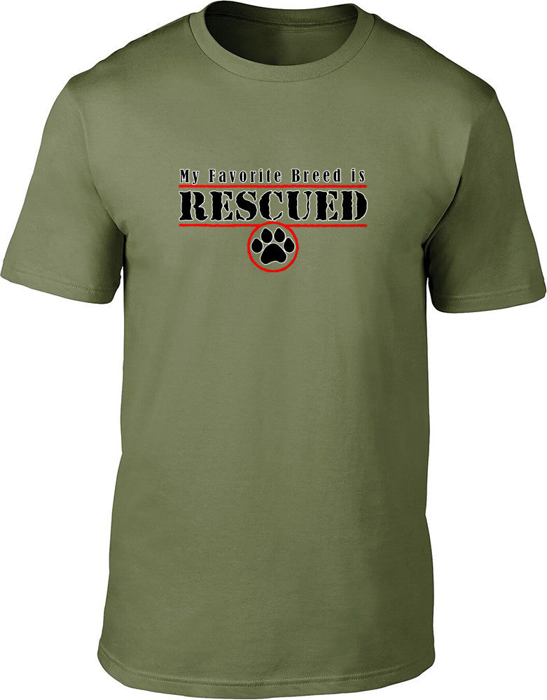 My favourite breed is rescued Mens T-Shirt