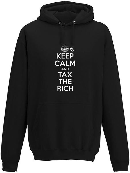 Keep Calm and Tax the Rich Adults Hoodie