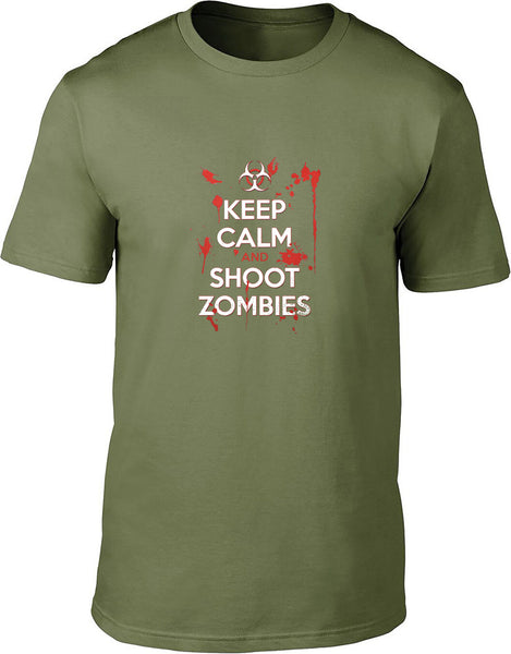 Keep Calm and Shoot Zombies Mens T-Shirt