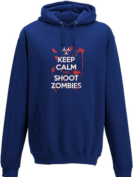 Keep Calm and Shoot Zombies Adults Hoodie