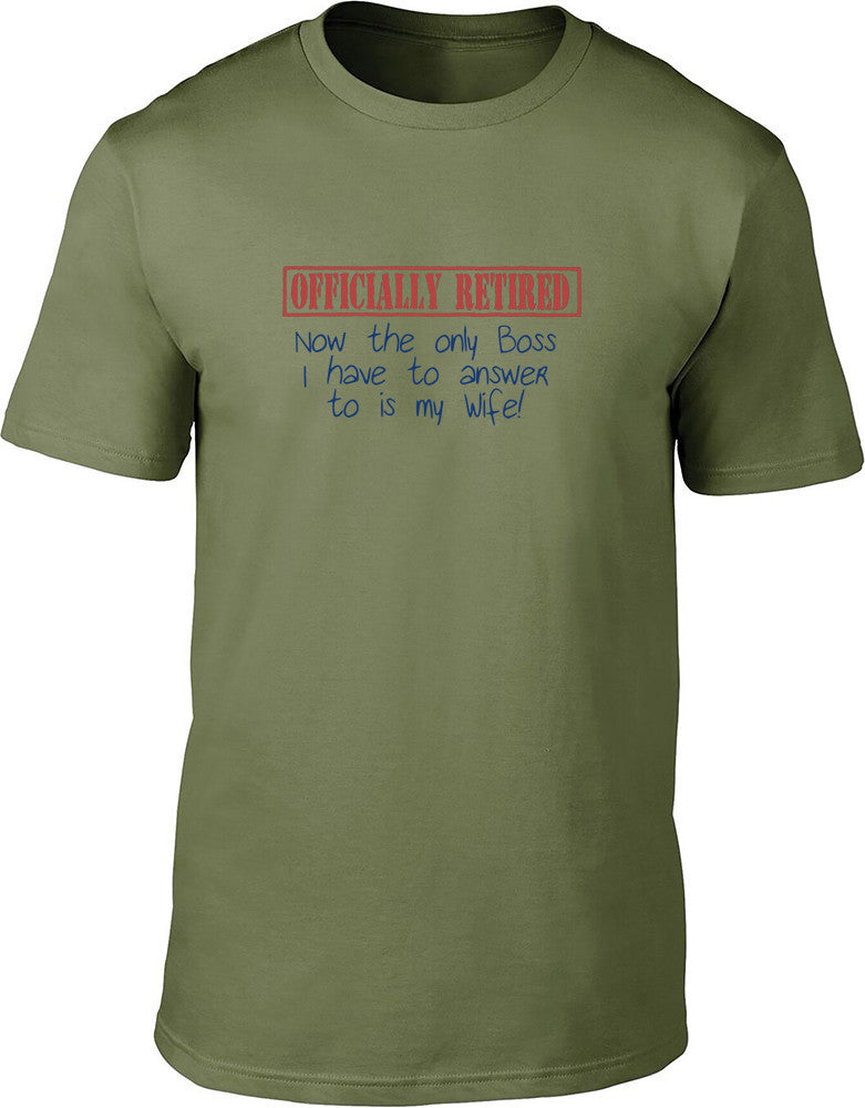 Offically Retired Mens T-Shirt