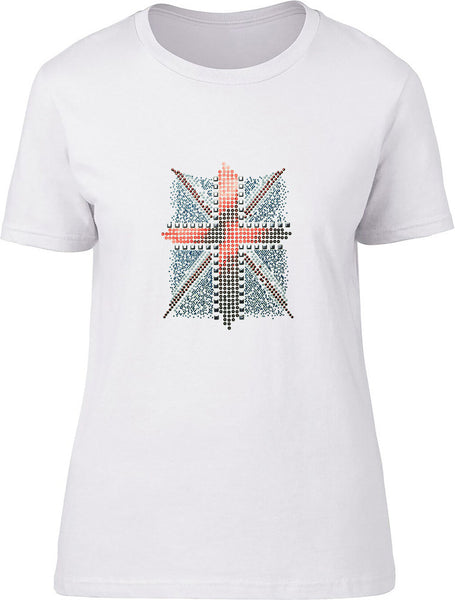 Rhinestone Union Jack Ladies T-Shirt