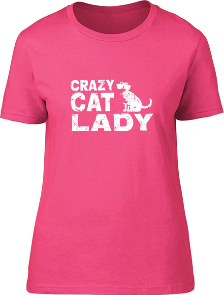 Crazy Cat Lady Ladies T-Shirt