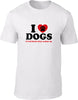 I love dogs it's humans that annoy me Mens T-Shirt