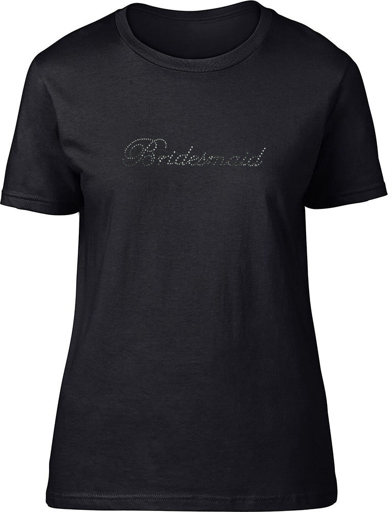Rhinestone Bridesmaid Ladies T-Shirt