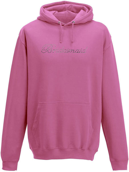 Rhinestone Bridesmaid Adults Hoodie