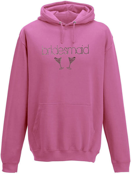 Rhinestone Bridemaids Adults Hoodie