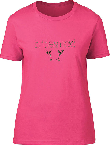 Rhinestones Bridemaids Ladies T-Shirt