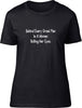 Behind every great man is a women rolling her eyes Ladies T-Shirt