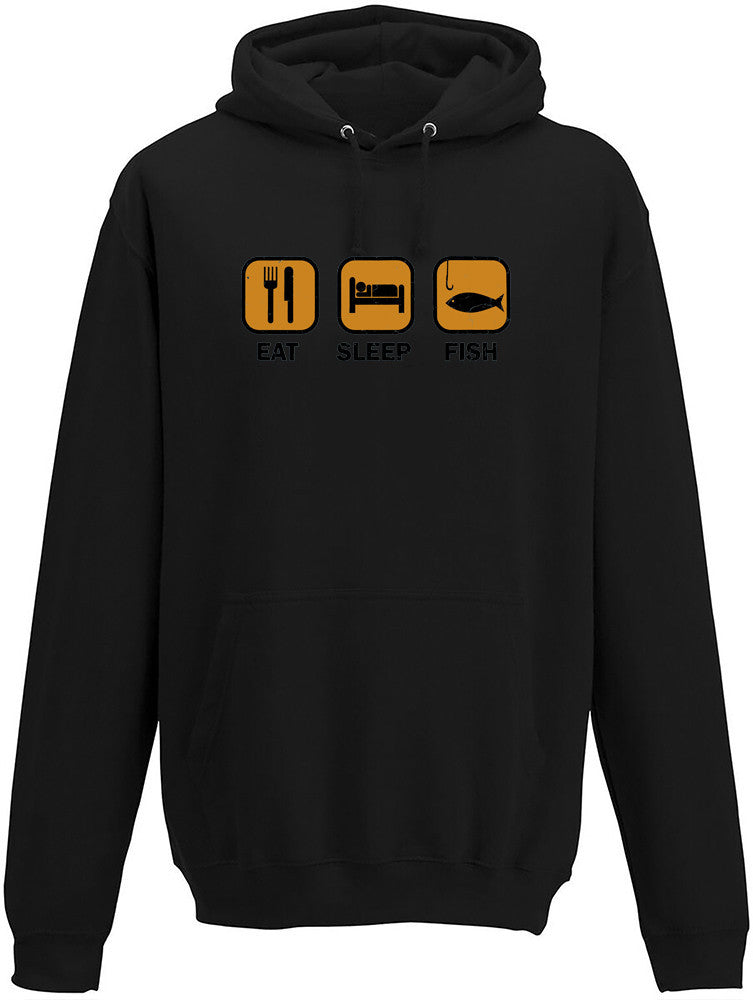 Eat Sleep Fish Adults Hoodie