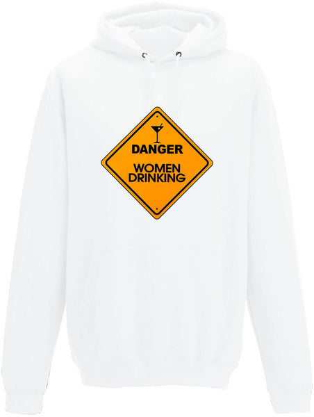 Danger Women Drinking Adults Hoodie