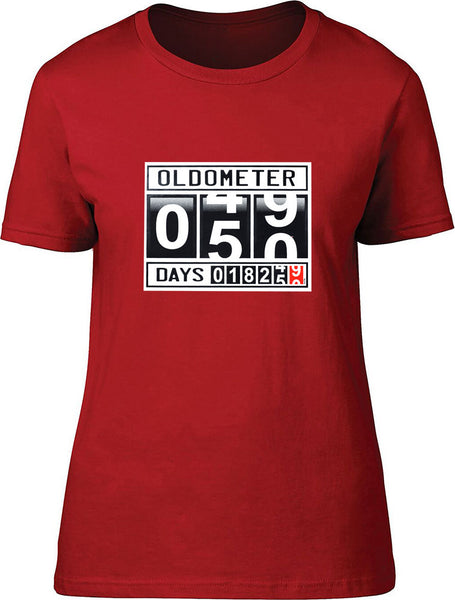 Oldometer 50 Ladies T-Shirt