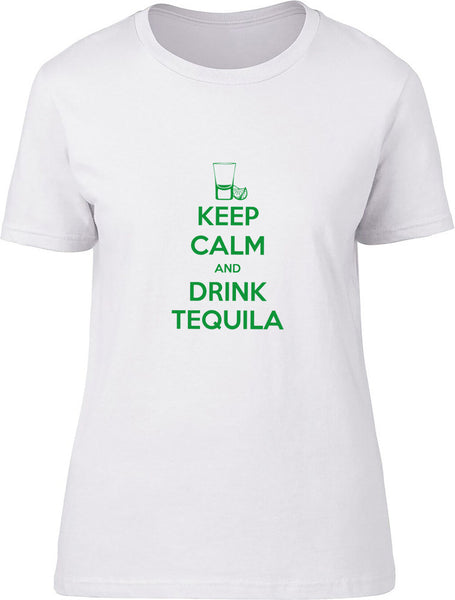 Keep Calm and Drink Tequila Neon Ladies T-Shirt