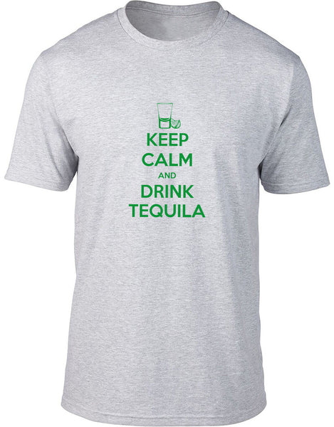 Keep Calm and Drink Tequila Neon Mens T-Shirt
