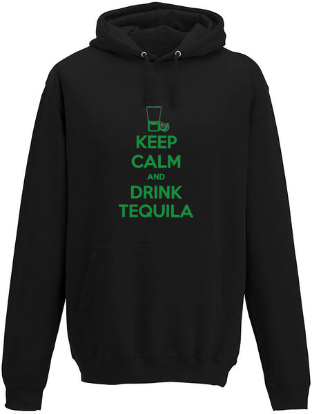 Keep Calm and Drink Tequila Neon Adults Hoodie