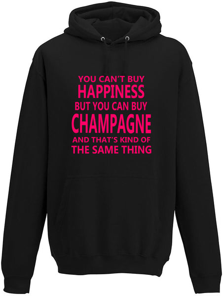 You Cant' Buy Happiness But You Can Buy Champagne Adults Hoodie