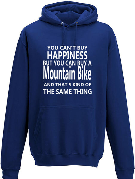 Your Can't Buy Happiness But You Can Buy A Mountain Bike Adult Hoodie