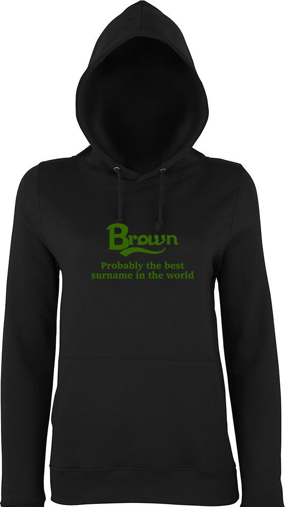 Brown Probably The Best Surname In The World Kids Hoodie