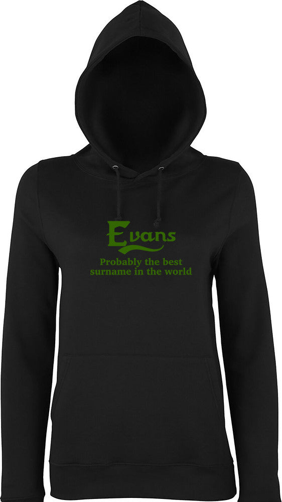 Evans Probably The Best Surname In The World Kids Hoodie