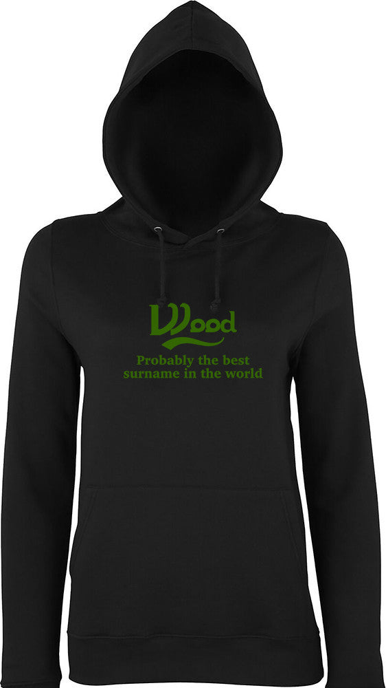Wood Probably The Best Surname In The World Kids Hoodie