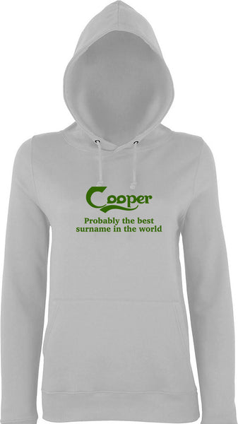 Cooper Probably The Best Surname In The World Kids Hoodie