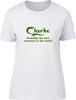 Clarke Probably The Best Surname In The World Ladies T Shirt