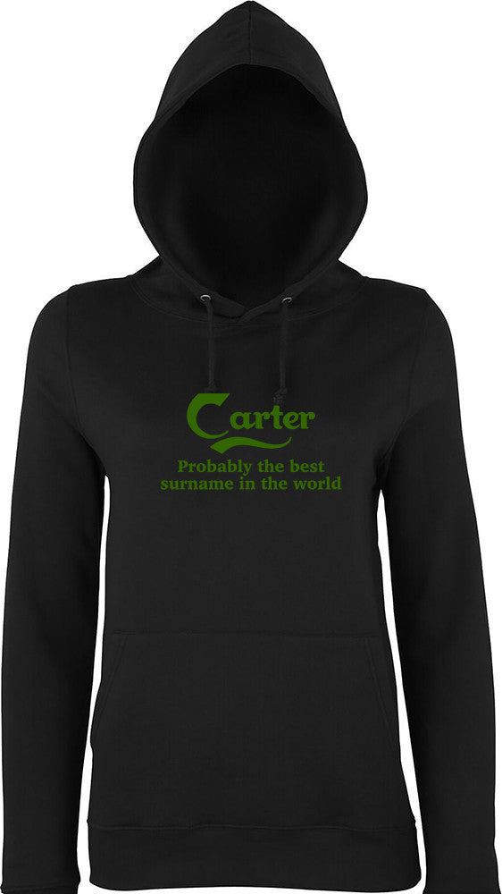 Carter Probably The Best Surname In The World Kids Hoodie