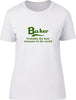 Baker Probably The Best Surname In The World Ladies T Shirt