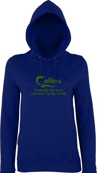 Collins Probably The Best Surname In The World Kids Hoodie