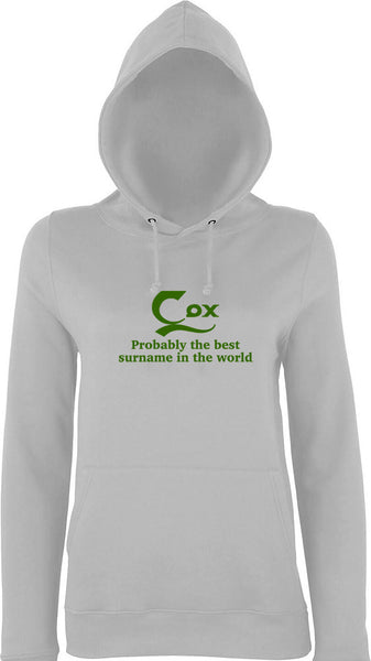 Cox Probably The Best Surname In The World Kids Hoodie