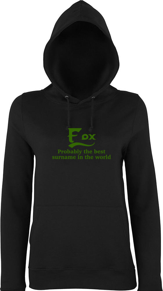 Fox Probably The Best Surname In The World Kids Hoodie
