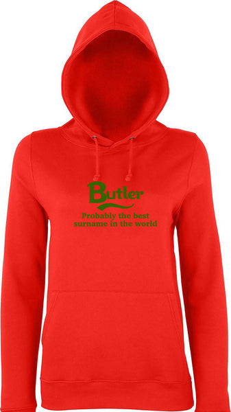 Butler Probably The Best Surname In The World Kids Hoodie