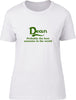 Dean Probably The Best Surname In The World Ladies T Shirt