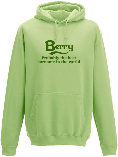 Berry Probably The Best Surname In The World Adults Hoodie