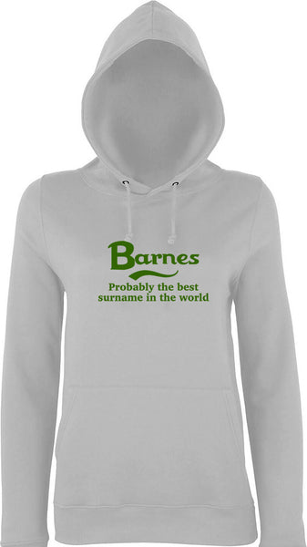 Barnes Probably The Best Surname In The World Kids Hoodie
