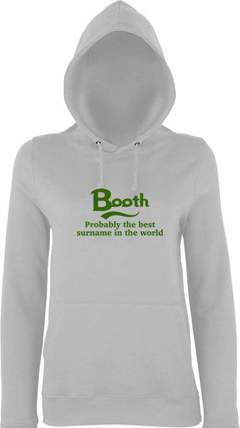Booth Probably The Best Surname In The World Kids Hoodie