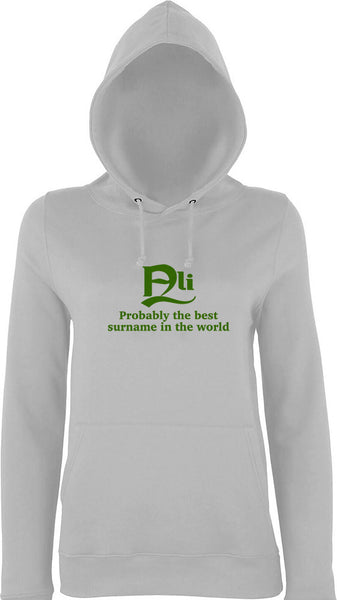 Ali Probably The Best Surname In The World Kids Hoodie