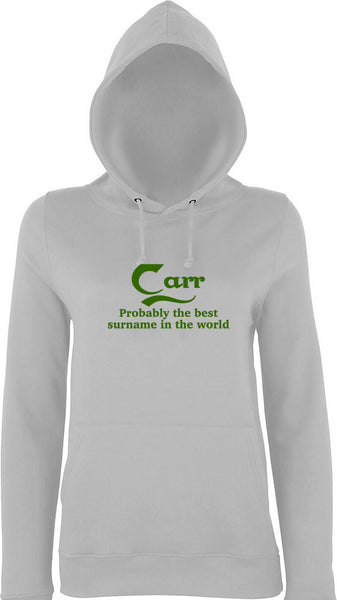 Carr Probably The Best Surname In The World Kids Hoodie