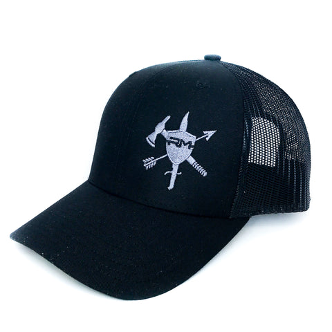 Black/Black Logo Hat