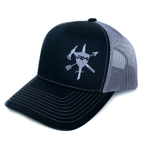 Black/Grey Logo Hat