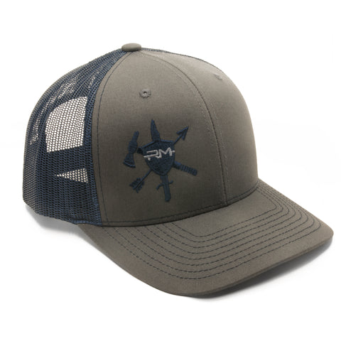 Grey/Navy Logo Hat