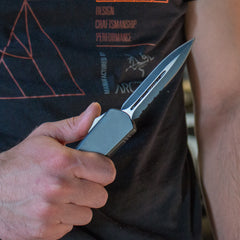 Spear-Point Tactical OTF Knife
