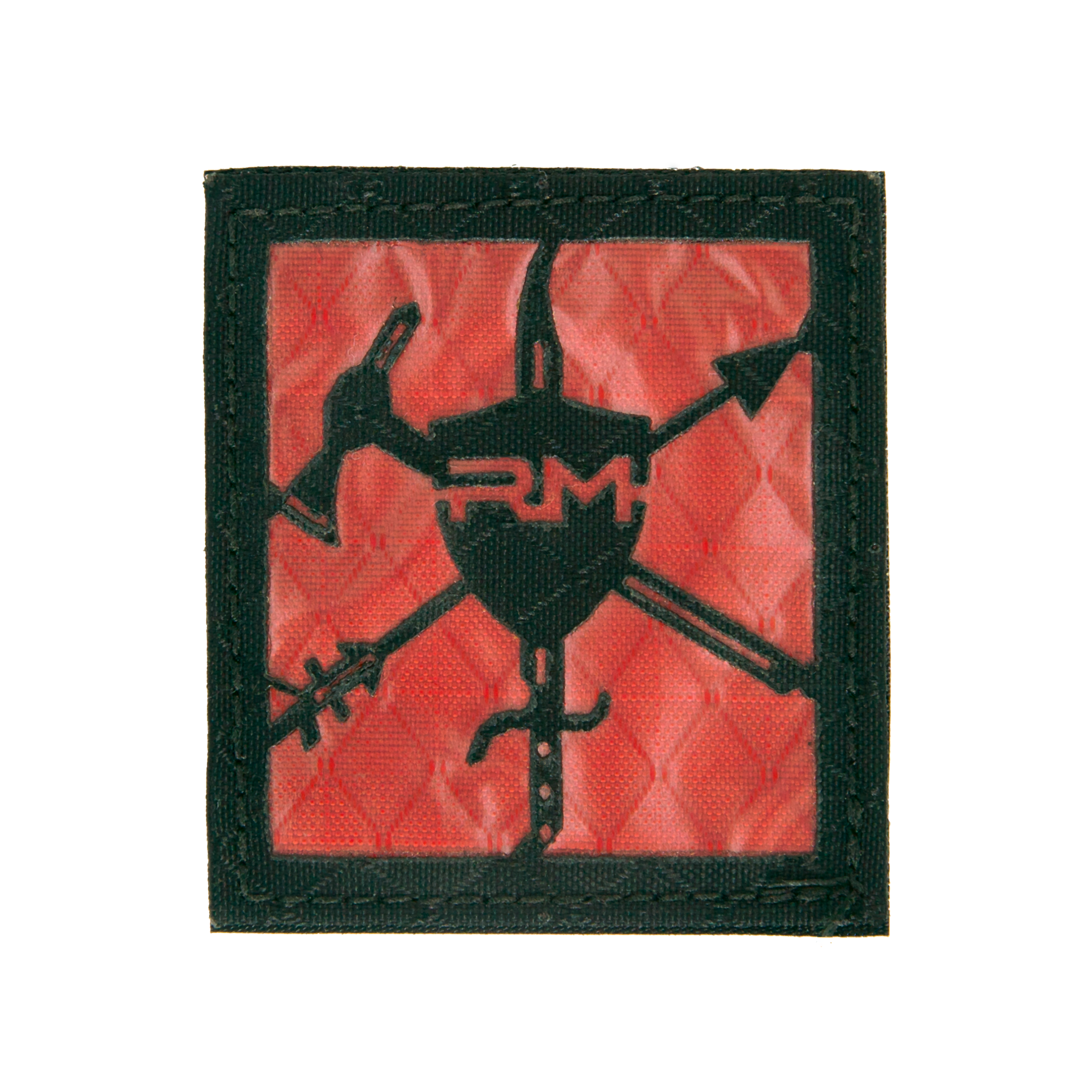 ReadyMan Black and Red Logo Patch