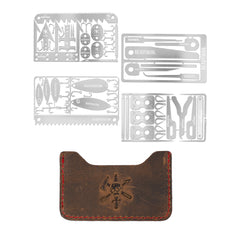 Total Survival Kit + Free Brown Leather Wallet