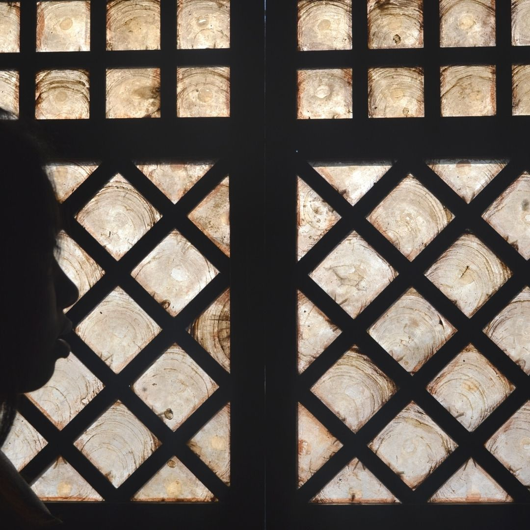 Capiz shells were a durable and widely available alternative to glass. This window remains intact in the home of renowned painter and activist, Juan Luna, in Badoc, Ilocos Norte.