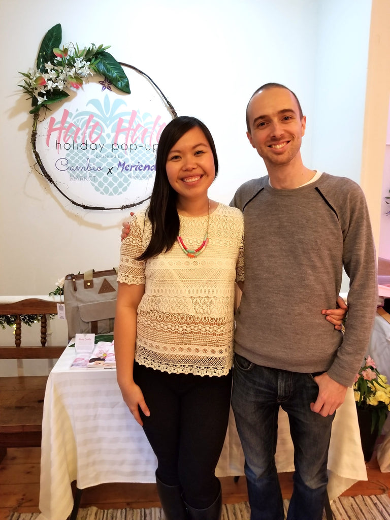 Jerome & Gelaine at Halo Halo Holiday Popup