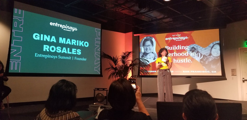 Gina Mariko Rosales of Make It Mariko at the Entrepinays Summit 2019 in San Francisco at Bespoke SF, an annual gathering of Filipina entrepreneurs to build sisterhood in the hustle.